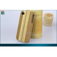 Buy cheap Bamboo / Wood  Iphone 4 Protective Cases With Comfortable Clothes Inside product