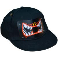 Buy cheap Hot sale flashing el hats music sound activated led caps with wireless inverter powered by 2 AA replaceable battery product