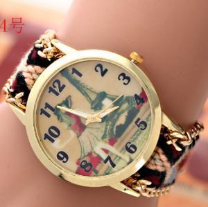 Buy cheap Vintage Geneva Flower Watch Women For Christmas Gift / Eiffel Tower Wrist Watch product