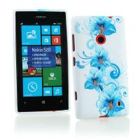 Buy cheap Blue Floral Plastic & Soft Silicone Nokia Mobile Phone Cover , Nokia Lumia 520 Case product