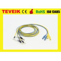 Buy cheap DIN1.5 Socket 1m Ear-Clip Electrode Silver Plated Copper EEG Cable from wholesalers