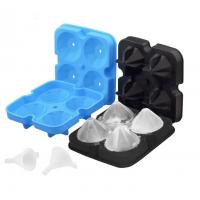 3D Diamond Silicone Ice Cube Molds 12*12*3.8CM For Drinks