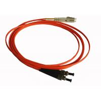 Buy cheap OM4 Optical Fiber Patch Cable , 50 / 125μm Fiber Optic Jumper Cables ST to ST DX product