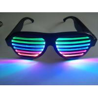 Quality New Style Voice-Activated LED glasses Sound activated shutter led flashing for sale