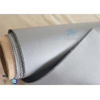 Buy cheap 510g Waterproof  260℃ Heat Resistant Gray Silicone Coated Fiberglass Fabric 0.45mm product