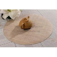 Buy cheap faux naturel fiber,EVA,11.8*17.71 inch,Gold,blue,black,yellow and grey,Handmade Wooden table Placemats product