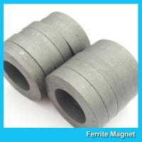 China Hard Diametrically Magnetized Ferrite Ring Magnet Round Custom Size Y30 Y35 on sale