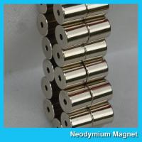 China Rare Earth Round Cylinder Neodymium Ring Magnets With Holes Multipurpose Use on sale
