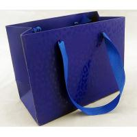 Buy cheap Glossy Lamination Ribbion Handle Luxury Paper Shopping Bags for Clothing Boutiques product