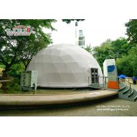 Buy cheap Building Waterproof Flame Retardant Geodesic Dome Tents , Glass Door Geodesic Dome Shaped Tents from Wholesalers