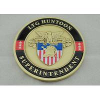 Buy cheap Zinc Alloy Personalized Coins Antique Gold Plating For Awards product