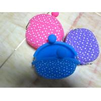 Buy cheap Polka dots kids silicone promotional gift coin wallet pochi purse with logo product