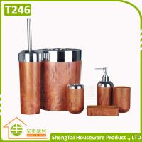 Buy cheap Wood And Metal Design 6 Pieces Fashion Hot Selling New Bath Accessory Set product