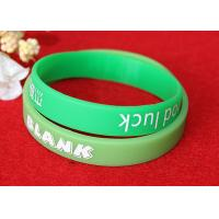 Buy cheap Washable Imprinted Rubber Bracelets , Personalized Silicone Wristbands Non Toxic product