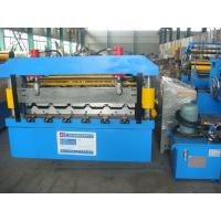Wall Panel Roll Forming Machine With Touch Screen PLC Control System For Construction