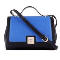 Buy cheap European style genuine leather bags patchwork two tones for ladies product