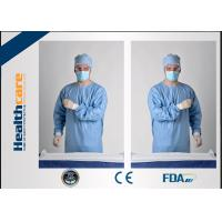 Buy cheap Blue Disposable Surgical Gowns Sterile Reinforced Knitted Wrists Gowns ISO CE FDA Approved product