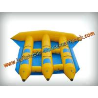 Buy cheap Funny 6 Persons Yellow Inflatable Boat Toys 0.9mm Pvc Tarpaulin product
