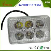 Buy cheap 18W Rectangle LED Work Light, LED Headlight for Motorbike, Replacing halogen lamp or HID product