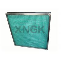 China Fiberglass Painting Spray Booth Filter High Temperature SUS Frame 80-90% Arrestance on sale