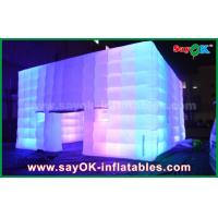 Buy cheap Outdoor PVC Coated Giant Cube Inflatable Tent With Color Change Light / Air Blower from Wholesalers