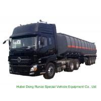 Buy cheap Tri Axles Caustic Soda Chemical Delivery Truck For 30 - 45MT Sodium Hydroxide product