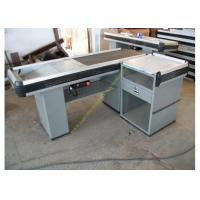 Buy cheap Multifunctional Supermarket Checkout Counter With Conveyor Belt / Retail Cash Desk from Wholesalers