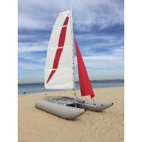 Buy cheap White / Red Inflatable Sailing Catamaran 6.05sqm Mainsail 2.2m Width With Two Sails from Wholesalers