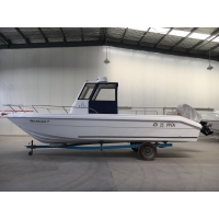 Buy cheap Fiberglass fishing boat/Tracffic boat/25 feet FRP open boat product