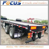 Buy cheap 3 Axle 50ton Capacity/Container Transport/Cargo Transport Flatbed Semi Trailer with Twist Lock/China Famous Brand product