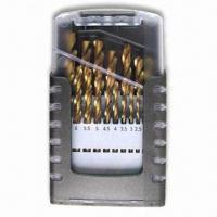 Buy cheap HSS Twist Drill Bit Set of 19 Pieces with Transparent Plastic Box, Available in Various Sizes product
