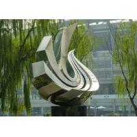 Large Polished Stainless Steel Sculpture , Outdoor Metal Sculpture For Garden