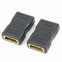 Buy cheap HDMI Female to HDMI Female Adapters with Full Copper Connectors and 24K Gold Plating product