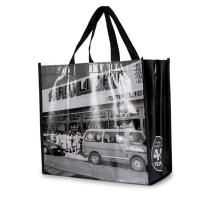 Collapsible Non Woven Grocery Tote Eco Friendly For Shopping Advertising