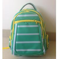 Buy cheap OEM ODM Green White Polyester Striped High School Backpacks with Laptop Pocket product