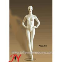 Buy cheap Jolly mannequins-wholesale full body abstract face fashion white mannequin Alicia-3 product
