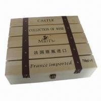 Buy cheap Wooden Wine Crate, Measures 350 x 270 x 200mm product
