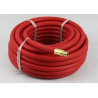 Buy cheap Red Rubber Air Hose with BSP Or NPT Fittings , Rubber Air Line BP 900 / 1200 Psi from Wholesalers