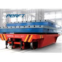 Buy cheap Battery Powered Ladle Transfer Car , Industrial Flat Bed Rail Transfer Trolley product