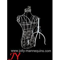 Buy cheap Jolly mannequins-vintage style female torso wire mannequin with four Tripod stand JY-WM03 product