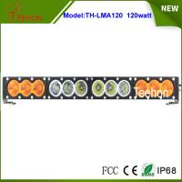 "Buy cheap Single row 21.9"" 120w white/amber led light bar 10w per CREE LED for offroad accessory product"