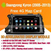 Buy cheap Android Car DVD Player GPS Navigation Wifi 3G for Ssangyong Kyron 2005-2013 Bluetooth Touch Screen product