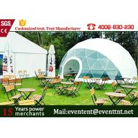 Buy cheap Large elegant transparent geodesic dome tent camping tent for outdoor events from Wholesalers