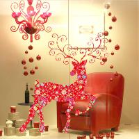 Buy cheap Non - Toxic Christmas Wall Art Stickers , David's Deer Christmas Window Decal product