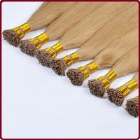 Buy cheap 100% Remy human hair extension, Color 4 Brazilian virgin remy hair,I tip hair extension product
