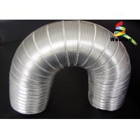 6 Inch Flexible Semi Rigid Aluminum Duct Silver Round For Hydroponic System