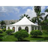Buy cheap Recreation White PVC Fabric Cover High Peak Tents for Fun on Grassland product