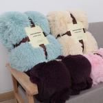Buy cheap Polyester Pure Color Faux Fur Fleece Blankets , Blush Faux Fur Blanket 200*220cm product