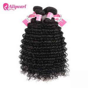 Buy cheap 3 Pcs Brazilian Human Hair Bundles Deep Wave , Brazilian Remy Hair Extensions product