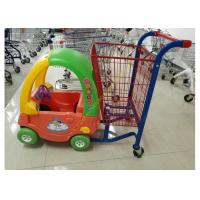 Buy cheap Unfolding Supermarket Metal Shopping Trolley , Kids Shopping Cart With Plastic from Wholesalers
